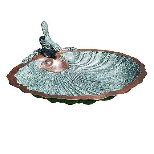 Achla Designs Scallop Birdbath Feeder