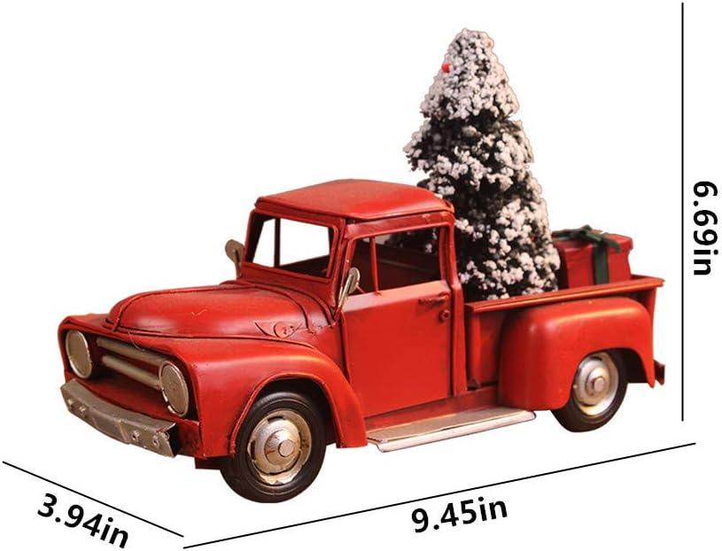 Pick Up  rot Modellauto Deko Blech Eisen Retro Antik  Blickfang 17cm x 8cm x8cm