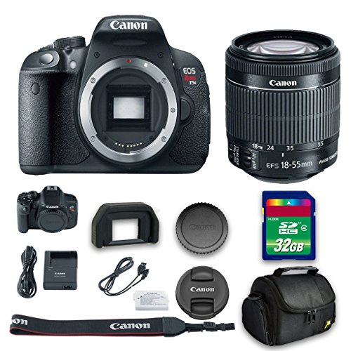 Canon T5i DSLR Camera + 18-55mm f/3.5-5.6 IS STM Lens + 32 GB High Speed Memory Card + Camera Case + All Original Accessories Included - International Version