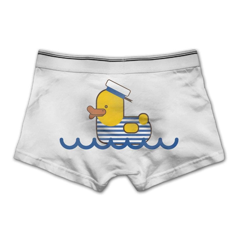 Ghhpws Mens Sailor Duck Underwear Cotton Boxer Briefs Stretch Low Rise Trunks White