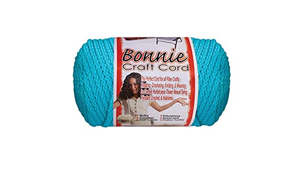 Bonnie Macrame Neon Craft Cord 6mmx100yd-begonia