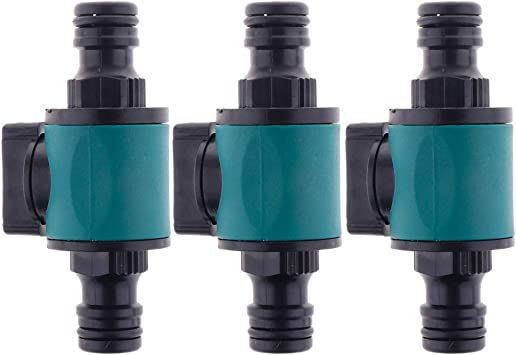 3 Unids Conector de Llave de Tubo de Manguera de Jardín de Agua de 2 Vías de Cierre Bidireccional: Amazon.es: Bricolaje y herramientas