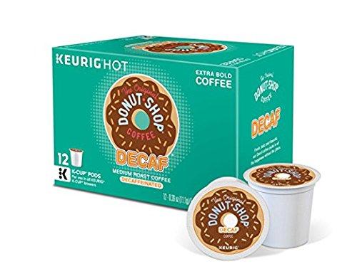 The Original Donut Shop Decaf K-Cup Pods, Medium Roast, 12-Count (Retail Box) (Decaf K Cups Donut Shop)
