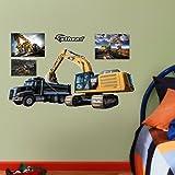 "Fathead Junior Wall Decal, ""CAT Excavator Loading Fathead"""