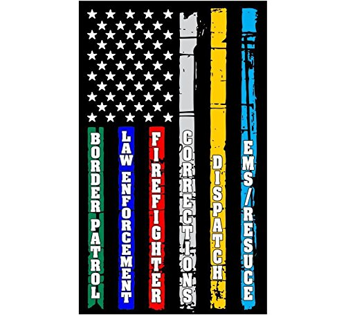 (MAGNET Thin Blue Line Red Line Fire, Police, Military, Dispatch Corrections Flag Decal Vinyl Magnetic Sticker 3