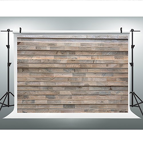Maijoeyy 7x5t Photography Backdrops Retro Wood Wall Photo Booth Props Brown Wood Floor Studio Props Backdrop Wood Backdrop NTZC-020 by Maijoeyy