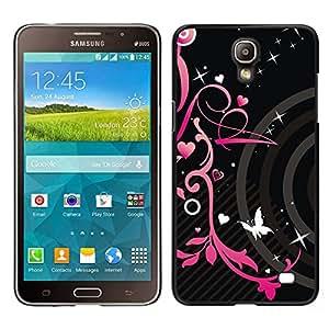For Samsung Galaxy Mega 2 , S-type® Hearts Butterfly Spring Abstract - Arte & diseño plástico duro Fundas Cover Cubre Hard Case Cover