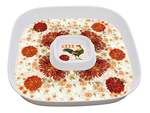 Lang Farmers Market Chip'N Dip Platter with Lid, Multicolor