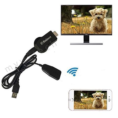 1080P HDMI AV HDTV Adapter Wireless Receiver Cord for Samsung Galaxy S7 /S7 Edge (Av Cord For Cell)