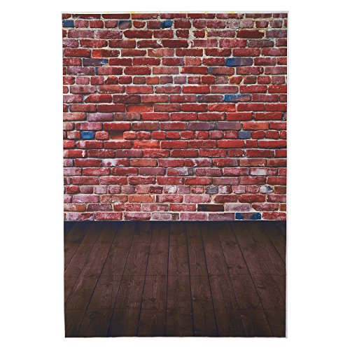 Brick Accessory (Brick Background - Photography Backdrop - Great for Studio, Booth, Party, Photo, Wedding, Business Use, 4.9 x 7.2 Feet)