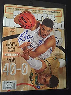 KARL-ANTHONY TOWNS SIGNED SPORTS ILLUSTRATED Kentucky Autographed JSA - Autographed College Magazines