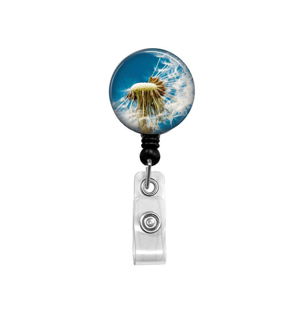 Dandelion Badge Reel - Retractable Badge - Nature ID Holder - Summer Badge Reel - ID Holder - Nurse Badge Reel - Flower Badge Reel - Dandelion ID Holder - Nature Lover