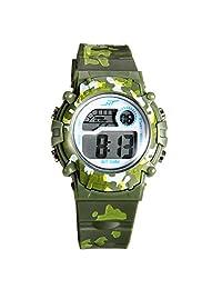Lancardo Reloj Deportivo Camuflaje Militar de Cuarzo Pulsera Digital con Multifunción de Cronógrafo Alarma Calendario con Luces para Actividad Deportes Exteriores para Chico Chica Unisex (Verde)