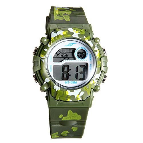 tal LED Multi-Function Military Outdoors Wristwatch (3 Colors) (Green) ()
