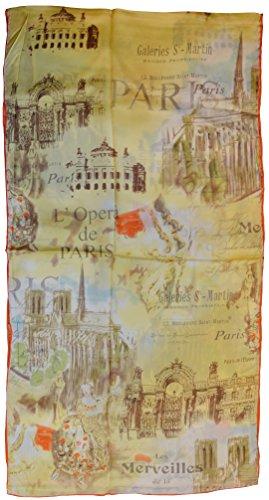 (YSSP, Paris, Van Gogh and Claude Monets Paintings Fashion Silk Scarf Premium Shawl Wrap Art)