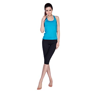Actlure Yoga Clothes Workout Clothes For Womens Pants and Tops Blue Black 3fb3c0c1b