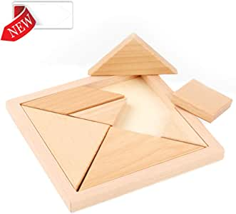 DASGF 7 Piezas de Madera Tangram Puzzle Game Large Size Caja de ...