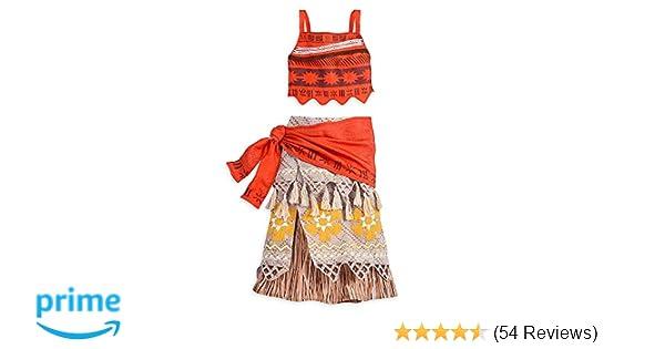 7cdffdcf3c2725 Amazon.com  Disney Moana Costume For Kids Size 5 6  Toys   Games