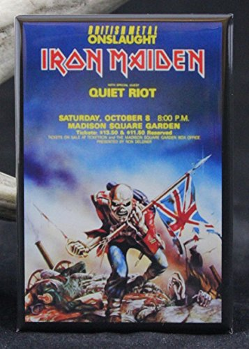 - Iron Maiden Concert Poster Refrigerator Magnet.