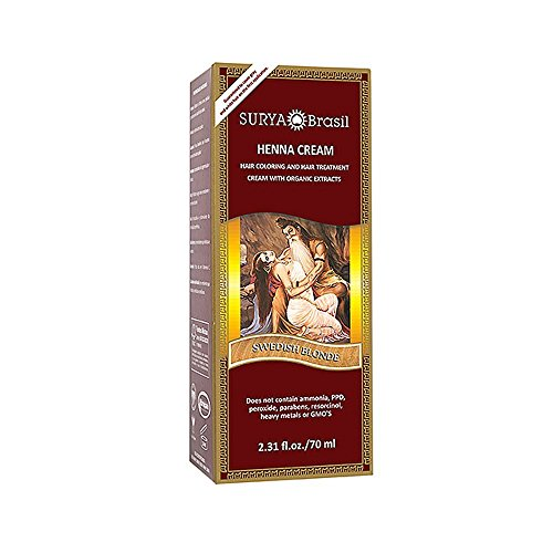 - Henna Swedish Blonde Cream Surya Nature, Inc 2.31 oz Cream