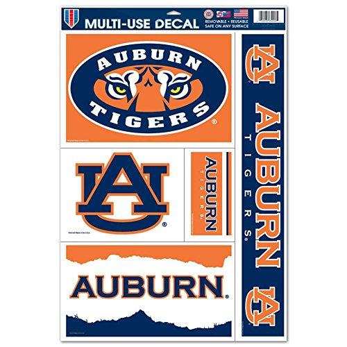 Tigers Ncaa Ultra Decal - Auburn Tigers Multi-Use Decal Set - 11