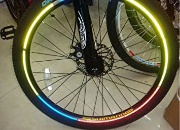 XINTE 26 Pulgadas rueda llanta reflexivo pegatinas pegatinas de calcomanías para bicicleta de montaña, ciclismo Color al azar: Amazon.es: Electrónica