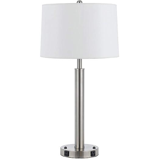 Amazon.com: Lámpara de mesa 2 lámparas de luz con acabado en ...