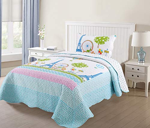 (florance jones 2 Pcs Quilts Bedspread Set Throw Blanket for Teens Girls Bedding Twin Full   Model THRW - 798   Full)