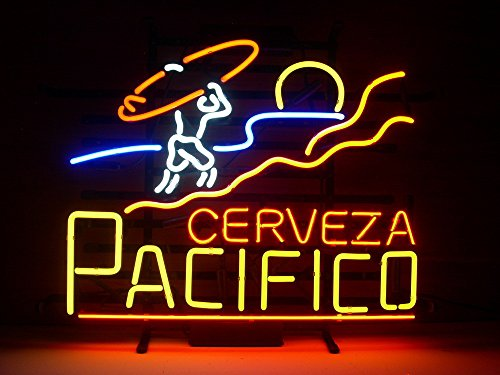 """Used, Pacifico Clara Mexican Cerveza Neon Sign 17""""x14""""Inches for sale  Delivered anywhere in USA"""