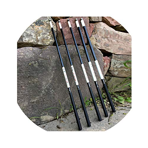 Small rivulet Ultra Light Super Hard 3.6/4.5/5.4/6.3/7.2 Meters Stream Hand Pole High Carbon Fiber,6.3 M