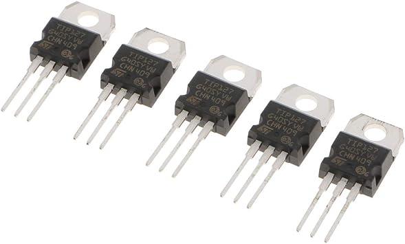 5 Pack TIP127 Darlington NPN Transistors Kit 3 PIN IC Component