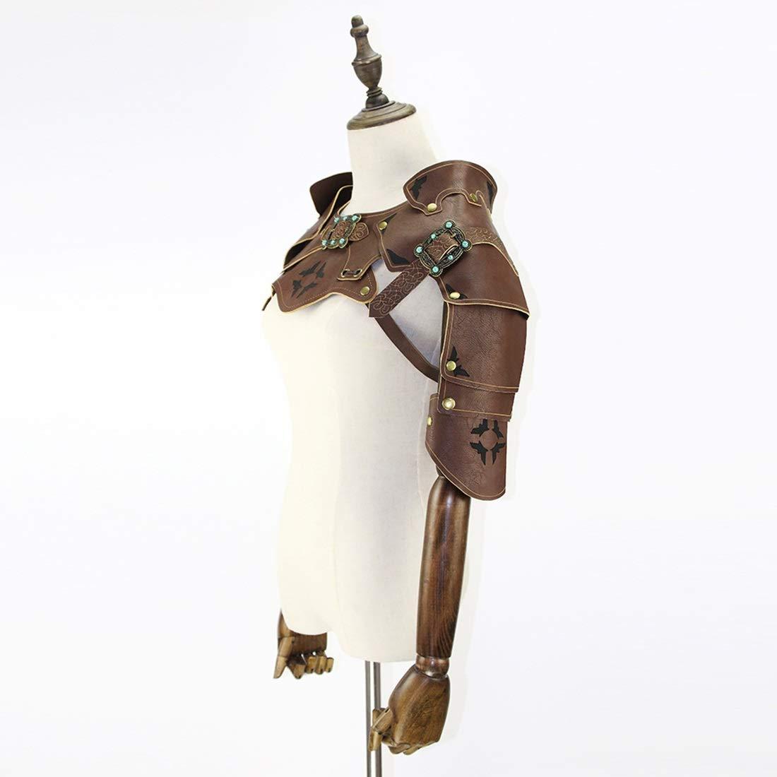 Fengxinwuzi Herren Steampunk Steampunk Steampunk Retro Leder Rüstung mit Schulterschnallen Kostüm-Kostüm Halloween Cosplay Requisiten Stil 2 5bfc8b