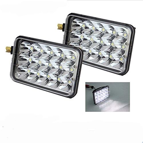 2pcs 45w Rectangle 7x6/5x7 Led Headlights Hi/Low Led Sealed Beam Chevy S10 H4 Plug H6054 Headlights H5054 6052 For Jeep Wrangler YJ Xj Cherokee (5INCH)