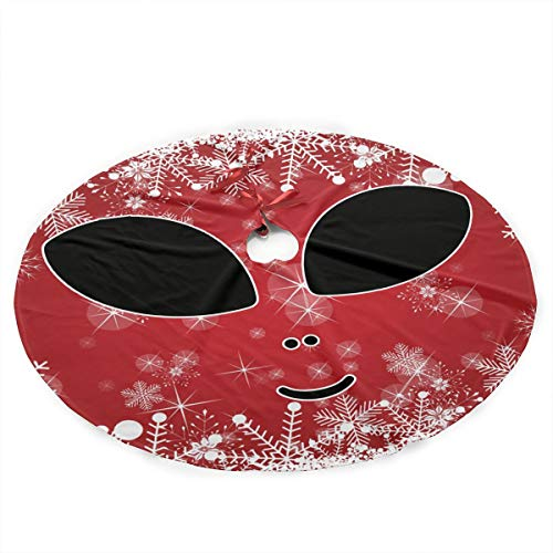 XAMX45Stree Halloween Costume Cute Alien Merry Christmas Tree Skirt Christmas Festive Holiday Xmas Tree Decorations for $<!--$26.88-->