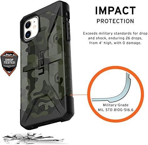 Urban Armor Gear Pathfinder Funda Apple iPhone 11 Carcasa Protector Case Compatible con Carga Inal/ámbrica, Ultra Resistente Slim Cover 6.1 - negro