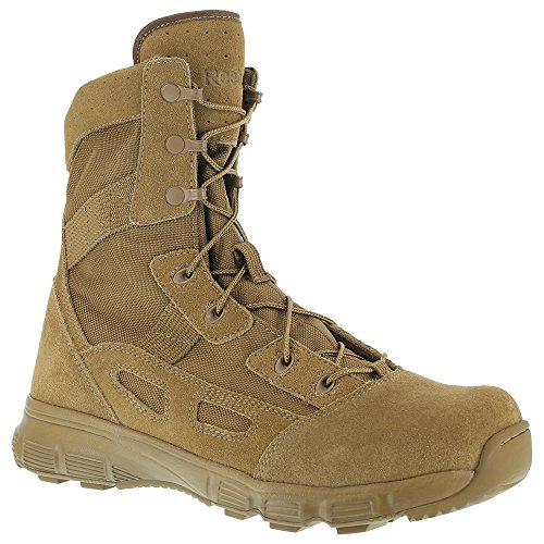 Reebok Mens Coyote Suede Nylon 8in Tactical Boots Hyper Velocity Soft Toe 10.5 M