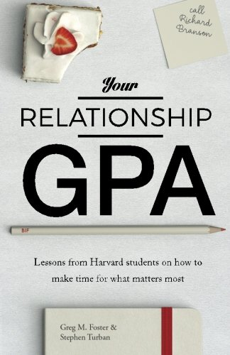 Your Relationship GPA: Lessons from Harvard students on how to make time for what matters most