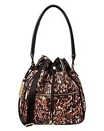LeSportsac Signature Bucket Shoulder Bag, Bronze Leopard Patent, One Size