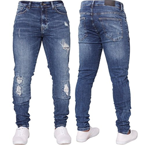 SySea Mens Ripped Long Skinny Slim Fit Jeans Comfy Stretch Fashion Biker Jean Pants With Holes by SySea (Image #1)