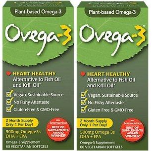 Ovega - 3 Non fish Omega DHA and EPA 500mg 120 by Amerifit