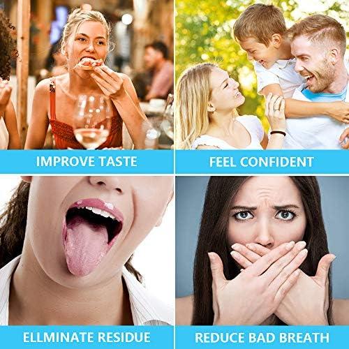 Souarts Zungenschaber aus Edelstahl Zungenreiniger Zungenbürste Zungen Reinigung Förderung der Mundgesundheit
