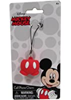 Disney Mickey Mouse Classic Cartoon Button Pants Cell Phone Charm - Foam