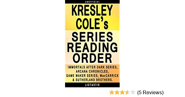 Amazon kresley cole series reading order series list in amazon kresley cole series reading order series list in order immortals after dark series the arcana chronicles the game maker series fandeluxe Images