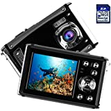 """Kids Waterproof Camera, Digital Underwater Camera for Children, 16MP 1080P HD Action Camera with 3M Waterproof, 2.4"""" LCD Screen, 8x Digital Zoom, Flash, and Rechargeable Battery(16G SD Card Included)"""