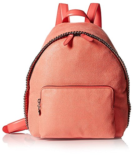Stella-McCartney-Womens-Chain-Trim-Backpack-Coral