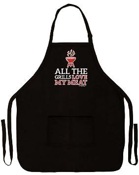Todas Las parrillas Love My Funny delantal para carne cocina ...