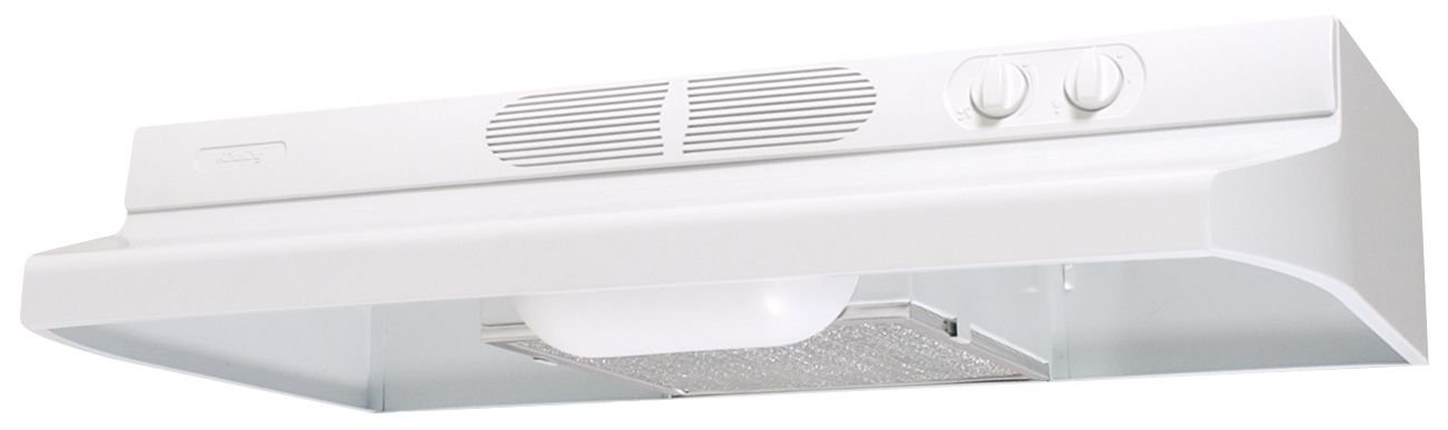 Air King AV1213 Advantage Convertible Under Cabinet Range Hood with 2-Speed Blower and 180-CFM, 7.0-Sones, 21-Inch Wide, White Finish
