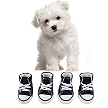 abcGoodefg® Pet Dog Puppy Canvas Sport Shoes Sneaker Boots, Outdoor Nonslip Causal Shoes, Rubber Sole+Soft Cotton Inner Fabric