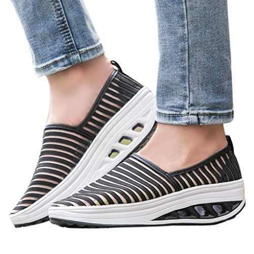 vermers Hot Sale Women Fitness Shoes Casual Sport Shoes Ladies Mesh Shake Shoes Platform Sneaker(US:7, ()