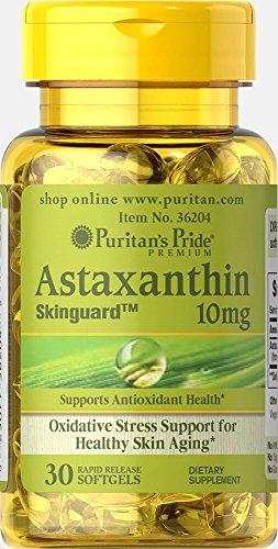 Puritan's Pride Natural Astaxanthin 10 mg-30 Softgels by Puritan's Pride